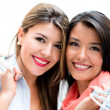 Stock Photo: Happy female shoppers