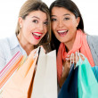 Stock Photo: Excited shopping women