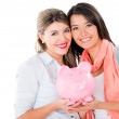 Women with their savings — Stock Photo
