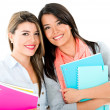 Happy college girls — Stock Photo