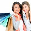 Stock Photo: Happy shopping girls