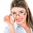 Stock Photo: Naughty girl with glasses