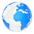 Foto Stock: 3D world map