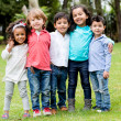 Happy group of children — Stock Photo
