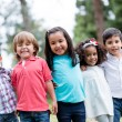 Happy group of kids — Foto Stock