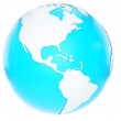 Stock Photo: 3D Earth globe