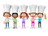 3D group of cooks — Stock Photo