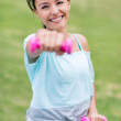 Happy woman working out — Stock Photo
