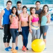 Stock Photo: Group of people at gym