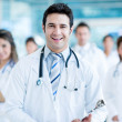 Doctor leading his team — Stock Photo #31583497