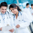 Doctors working at the hospital — Stock Photo