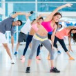 Group of gym people — Stock Photo