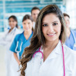 Female doctor at the hospital — Stock Photo