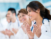 Successful group of doctors — Stock Photo