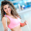 Happy fitness woman — Stock Photo