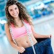 Stockfoto: Fit womloosing weight