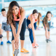 People in a gym class — Stock Photo