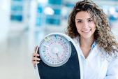 Nutritionist at the hospital — Stock Photo