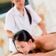Woman relaxing at the spa — Stock Photo #31845453