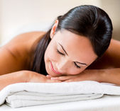 Beautiful woman at the spa — Stock Photo