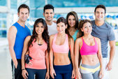 Happy people at the gym — Stock Photo