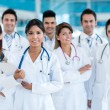 Stock Photo: Team of doctors at hospital