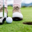 Golf player at the green — Stock Photo #32002791