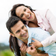 Happy romantic couple — Stock Photo
