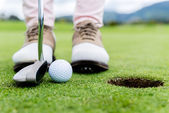 Golf player at the green — Foto de Stock