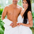Stock Photo: Couple at spa