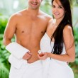 Couple at the spa — Stock Photo
