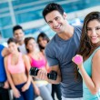 People at the gym — Stock Photo #32068883