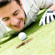 Golf player cheating — Stock Photo #32068989