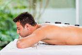 Man at the spa — Stock Photo