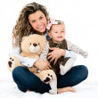 Foto Stock: Cute mother and baby