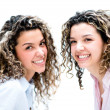 Portrait of happy twins — Stock Photo