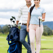 Couple playing golf — Stock Photo #32127089