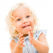 Happy little girl clapping — Stock Photo #32127101