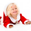 Very happy female Santa — Stock Photo