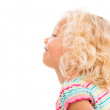 Stock Photo: Profile of little girl