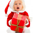 Female Santa with a gift — Stock Photo #32127161