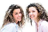 Portrait of happy twins — Stock Photo