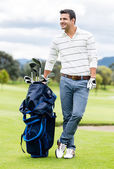 Male golfer at the course — Foto de Stock