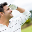 Stock Photo: Man at the golf course
