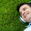 Stock Photo: Man listening to music