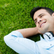 Man relaxing outdoors — Stock Photo #32195155