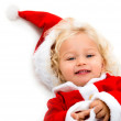 Happy Santa girl — Stock Photo