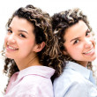 Beautiful twins — Foto Stock
