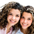 Happy twin girls — Stock Photo