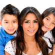 Foto Stock: Mother and two children
